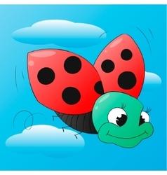 Funny cartoon ladybug isolated vector image vector image