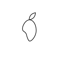 mango icon vector image