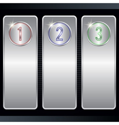 Metallic banners collection vector image