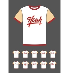 T-Shirt design with the personal name Noah vector image vector image