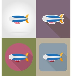 transport flat icons 76 vector image