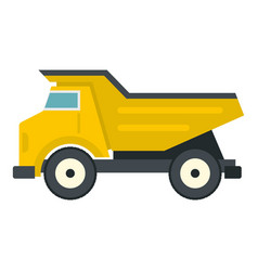 yellow dump truck icon isolated vector image vector image