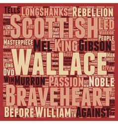 Braveheart DVD Review text background wordcloud vector image