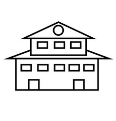 mansion icon vector image vector image