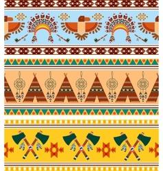 Tribal Ethnic Vintage Background vector image