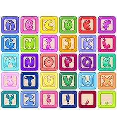 alphabet blocks vector image vector image