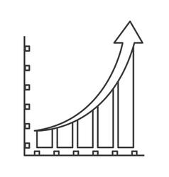bar graph icon vector image