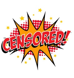CENSORED vector image