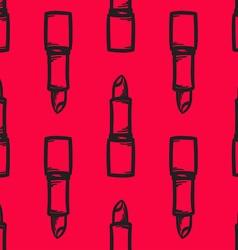 Lipstick Patterned Background vector image