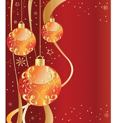 ornate ornaments red vector image vector image