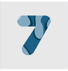 7 water font template design vector