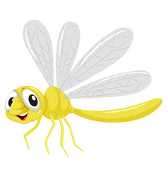 A dragonfly character on white background vector