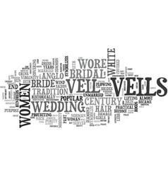 a little bit about the bridal veil text word vector image