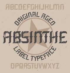 absinthe label font design vector image