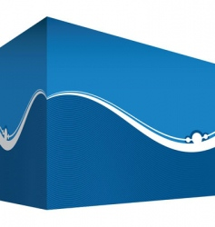 abstract box vector image