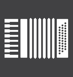 accordion glyph icon music and instrument vector image