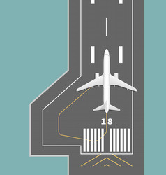 Airplane on the runway vector