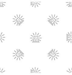 alarm siren icon outline style vector image