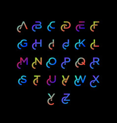 Alphabet letters with colorful colors font style vector