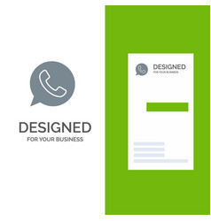 App chat telephone watts app grey logo design and vector