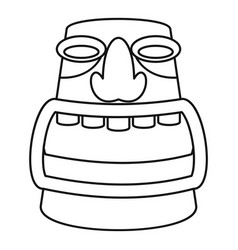 Aztec idol icon outline style vector