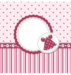 Baby girl background vector