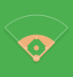 baseball field from top view flat design vector image