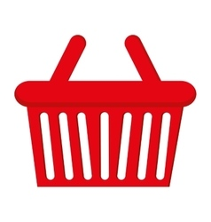 basket shopping buy flat icon vector image