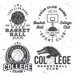 Basketball college club badge concept for vector