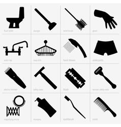 Bathroom accessories vector image