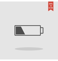 Battery icon Flat design style vector image
