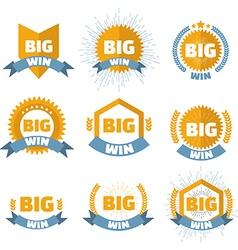 Big win banner set vector