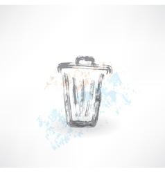 Bin grunge icon vector image
