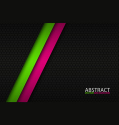 black abstract background with two bright stripes vector image