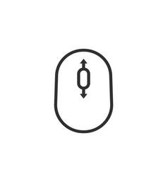 Black thin line scroll icon vector