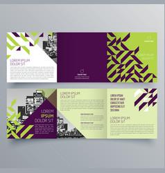 brochure design 817 vector image