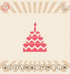 cake symbol icon vector image