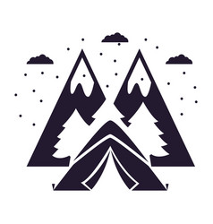 camping summer concept vector image