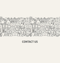 contact us banner concept vector image