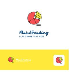 Creative pie chart logo design flat color logo vector