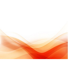 curve and blend light orange abstract background vector image