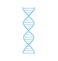 dna molecule helix spiral genetic code vector image