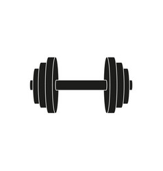 Dumbbell weights icon vector