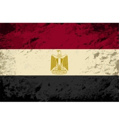 Egyptian flag grunge background vector