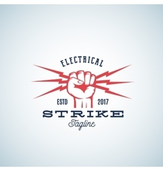 Electrical strike power abstract emblem vector