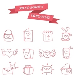 Element valentine icons collection stock vector
