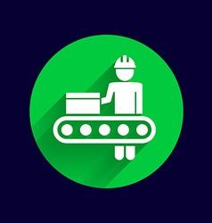 Engineering workshop Industrial operation icon vector