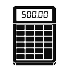 financial calculator icon simple style vector image