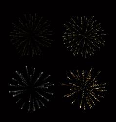 fireworks set gold beautiful golden fireworks on vector image