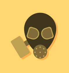Flat icon design collection military gas mask in vector